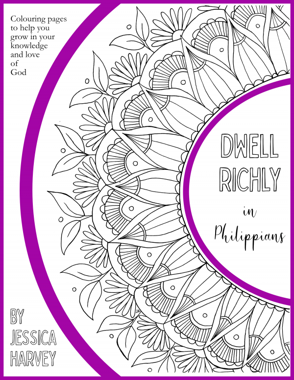 Dwell Richly in Philippians adult bible colouring book