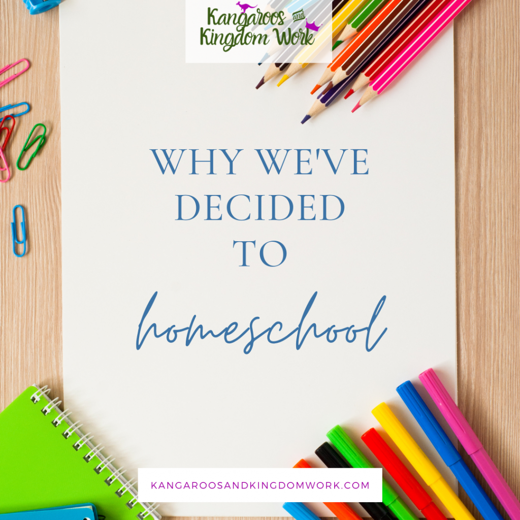 why we've decided to homeschool blog post