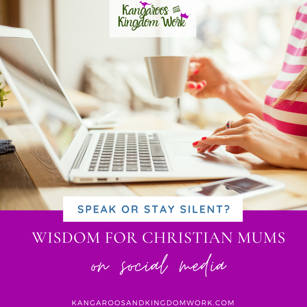 social media wisdom for speaking up as a christian